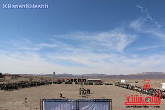 رزمایش محمد رسول الله در اردوگاه شهید میرافضلی رفسنجان ۱۳۹۳ صبحگاه مشترک (۱۳)