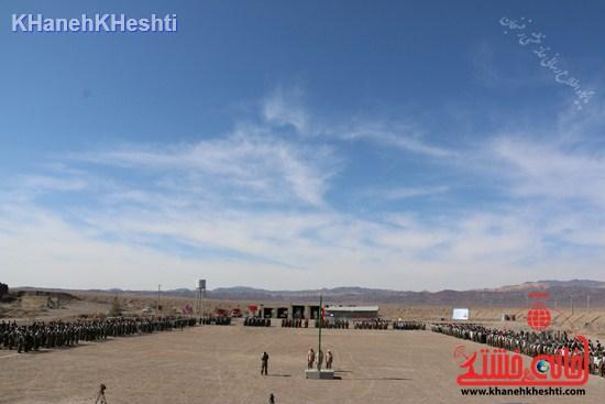رزمایش محمد رسول الله در اردوگاه شهید میرافضلی رفسنجان ۱۳۹۳ صبحگاه مشترک (۱۵)