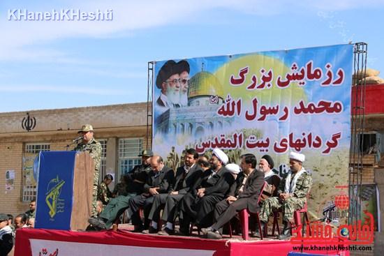 رزمایش محمد رسول الله در اردوگاه شهید میرافضلی رفسنجان ۱۳۹۳ صبحگاه مشترک (۱۶)
