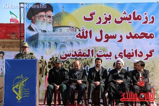 رزمایش محمد رسول الله در اردوگاه شهید میرافضلی رفسنجان ۱۳۹۳ صبحگاه مشترک (۱۸)