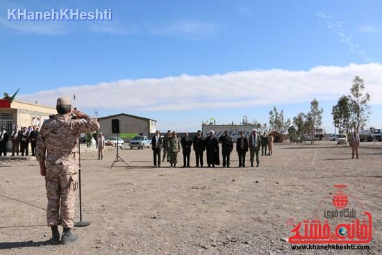 رزمایش محمد رسول الله در اردوگاه شهید میرافضلی رفسنجان ۱۳۹۳ صبحگاه مشترک (۲)