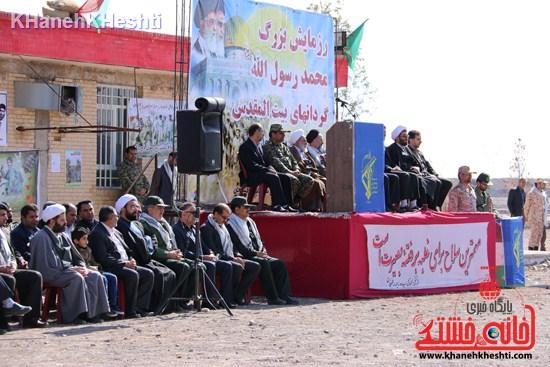 رزمایش محمد رسول الله در اردوگاه شهید میرافضلی رفسنجان ۱۳۹۳ صبحگاه مشترک (۸)