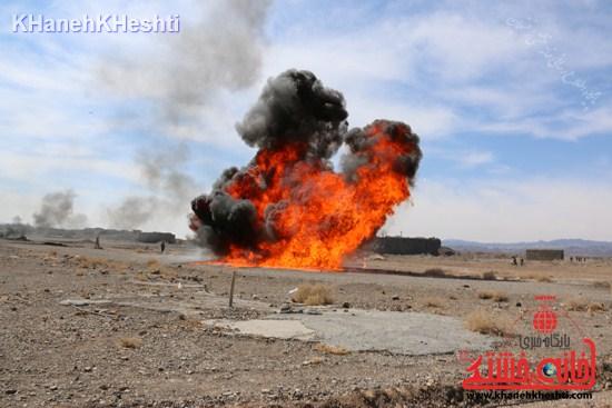 رزمایش محمد رسول الله در اردوگاه شهید میرافضلی رفسنجان ۱۳۹۳ (۱۴)