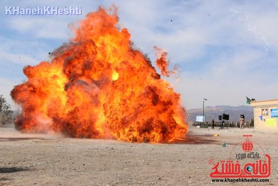 رزمایش محمد رسول الله در اردوگاه شهید میرافضلی رفسنجان ۱۳۹۳