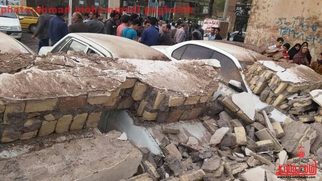اظهارات شهردار منطقه یک رفسنجان در خصوص حادثه ریزش دیوار جنب پارکینگ مسجد حاج شریف + عکس