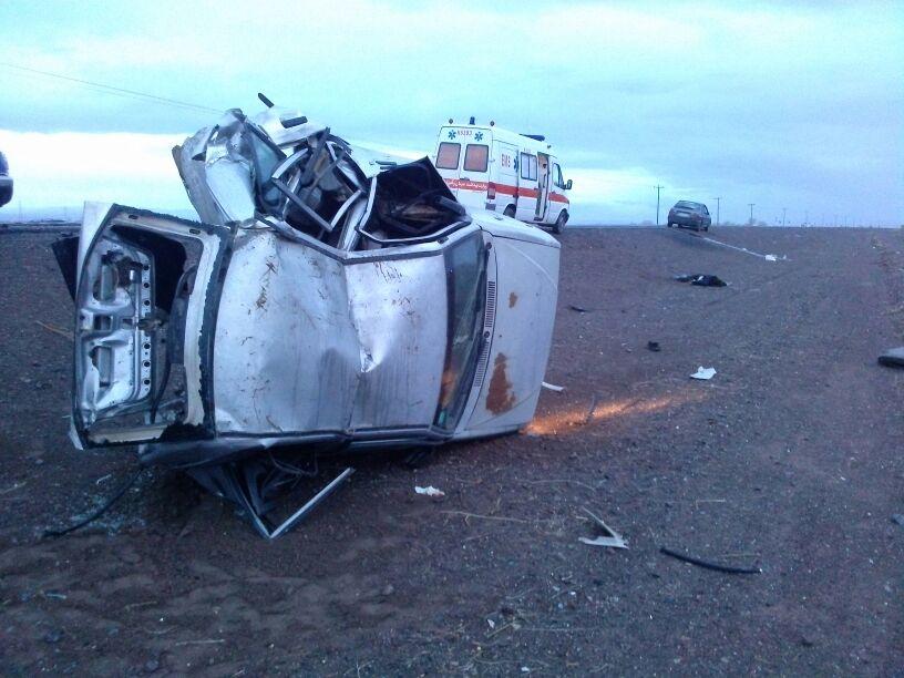 حادثه در محور رفسنجان به کرمان مرگ راننده پراید را رقم زد