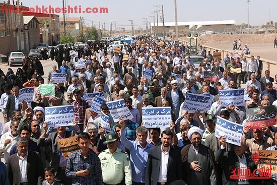 راهپیمایی مردم رفسنجان در حمایت از مردم مظلوم یمن