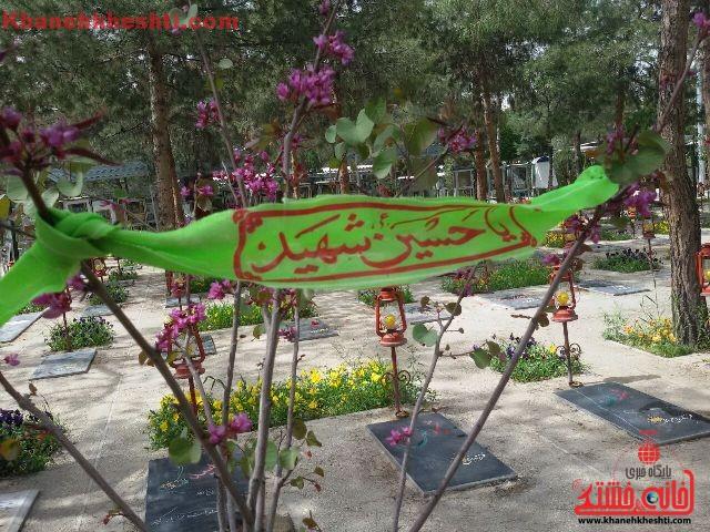دوربین خانه خشتی در بهشت زهرای تهران/ مهم ترین هنرمندان ما شهدا هستند