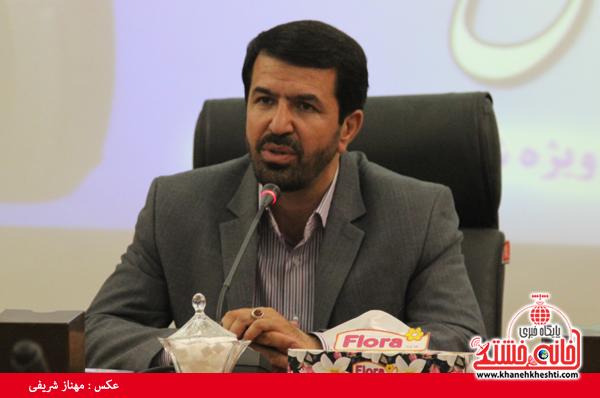 نقد فرماندار رفسنجان بر شاخص های توزیع اعتبارات در استان