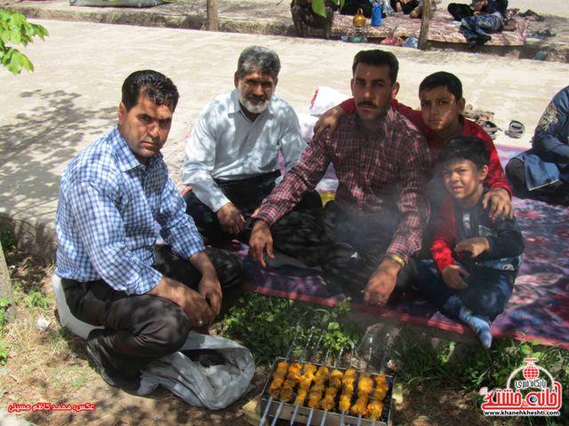 دوربین خانه خشتی در روز طبیعت در رفسنجان