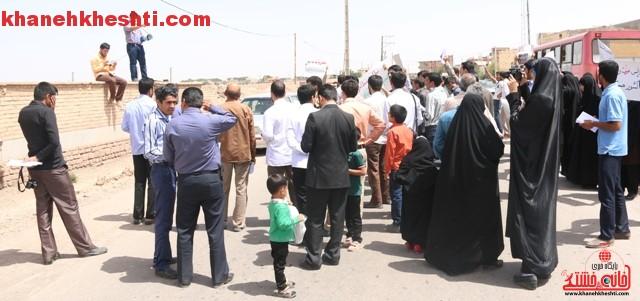 اعتراض مردم رفسنجان به توافق به هر قیمتی_خانه خشتی (۲۰)