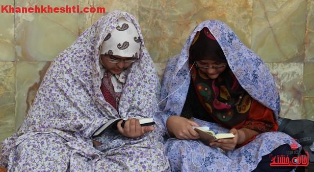 دوربین خانه خشتی در اعتکاف بانوان رفسنجان
