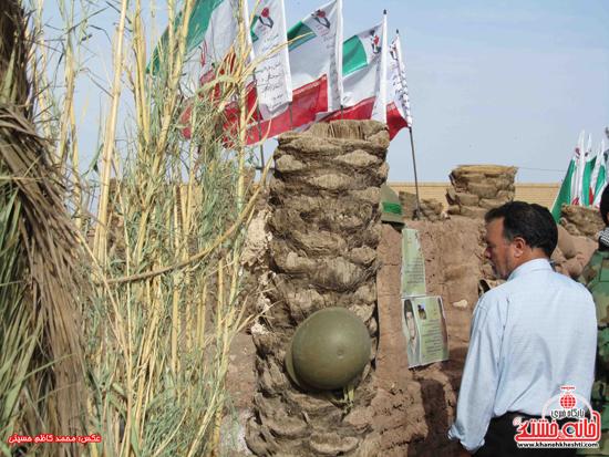 دوربین خانه خشتی در بیست و یکمین یادواره شهدا و شهید گمنام روستای لاهیجان رفسنجان