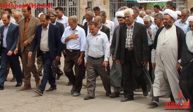 تصاویر راهپیمایی اعتراض آمیز مردم کشکوئیه در دفاع از مردم مظلوم یمن