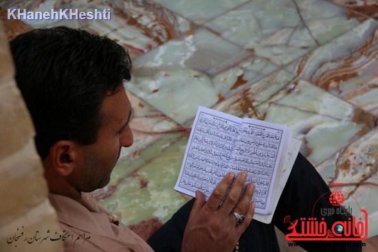 دوربین خانه خشتی در مراسم اعتکاف شهرستان رفسنجان
