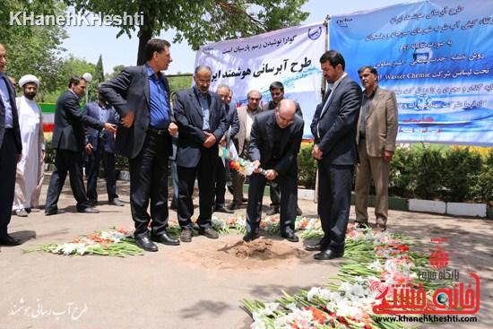 پروژه تصفیهخانه آب رفسنجان کلنگ زنی شد + عکس