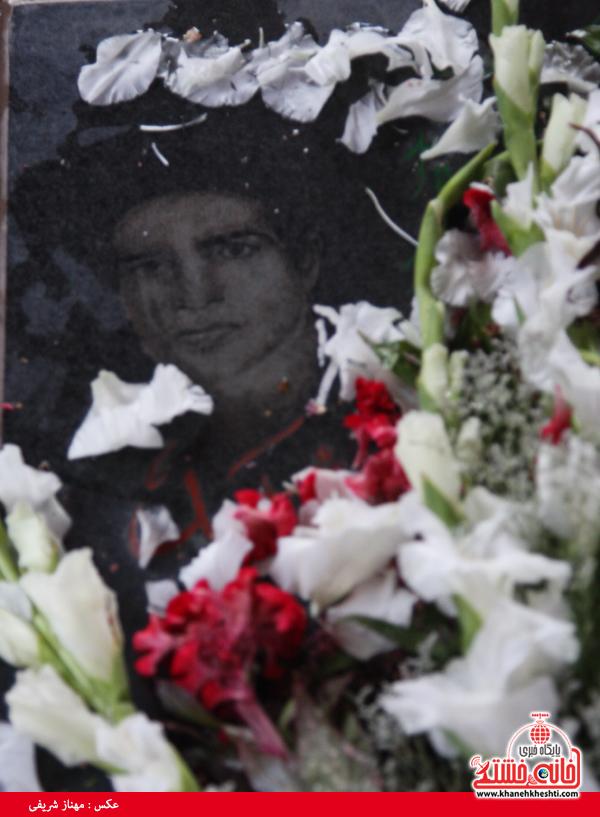سالروز شهادت شهید ایرج پژوه در گلزار شهدای رفسنجان برگزار شد + عکس