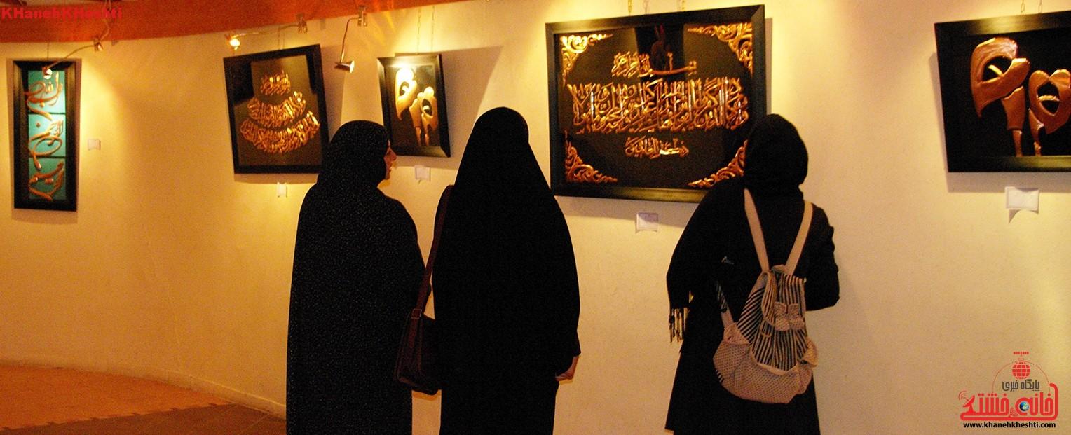 نمایشگاه تابلوهای مسی در رفسنجان برپا شد