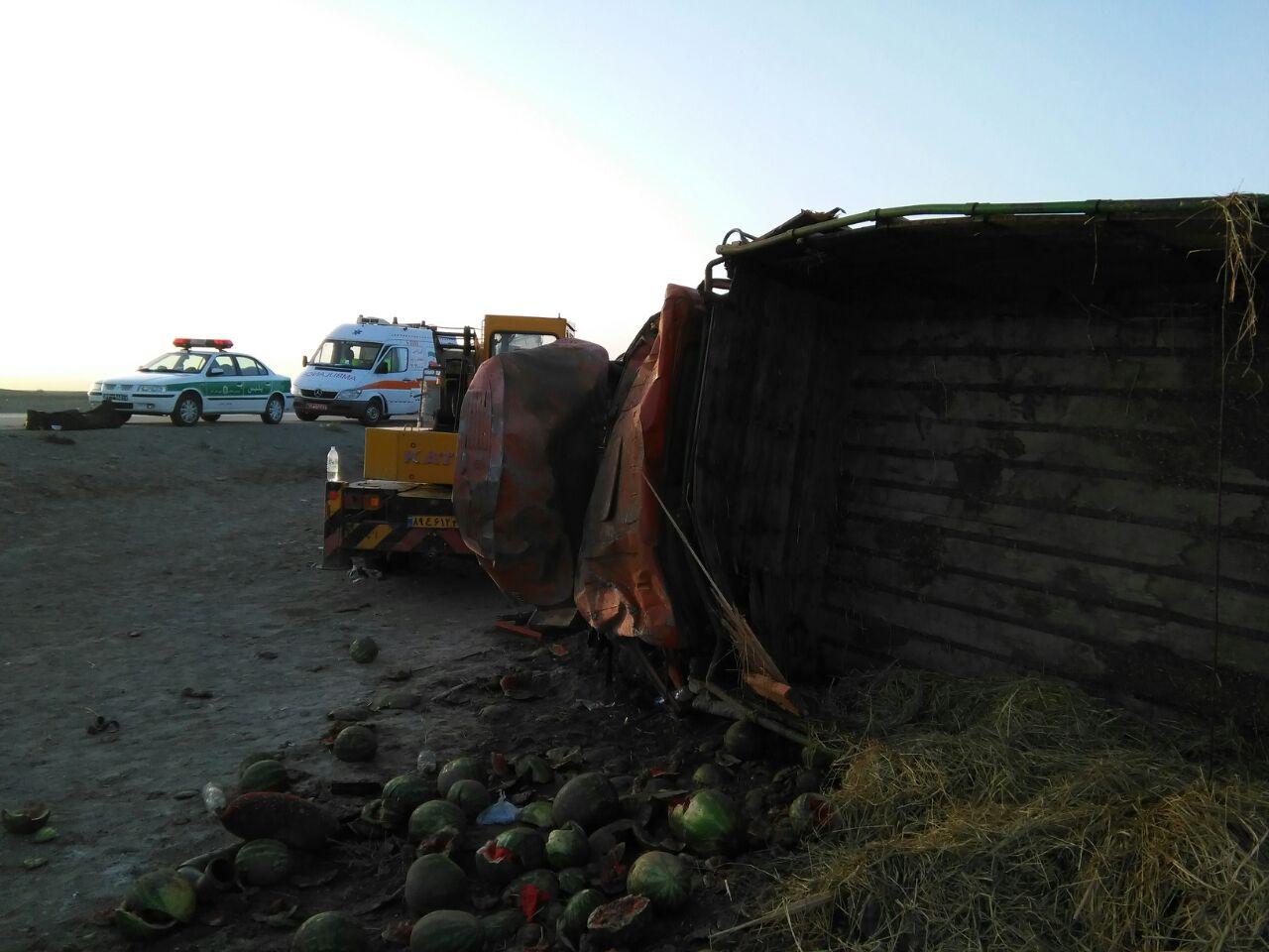 کامیون حامل هندوانه یک قربانی گرفت