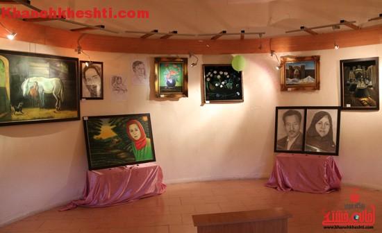 نمایشگاه نقاشی هنرمند یزدی در رفسنجان گشایش یافت + عکس