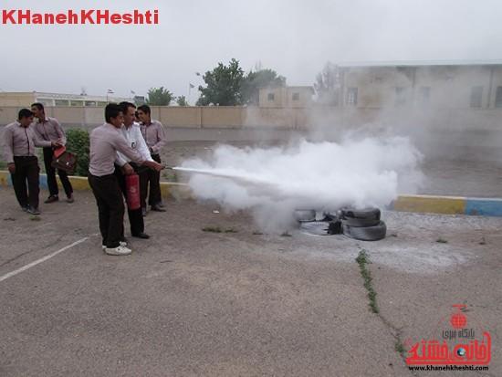 پدافند غیرعامل در مدارس رفسنجان برگزار شد + عکس