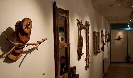 تابلوهای چوبی در نگارخانه فرهنگ رفسنجان سخن می گویند