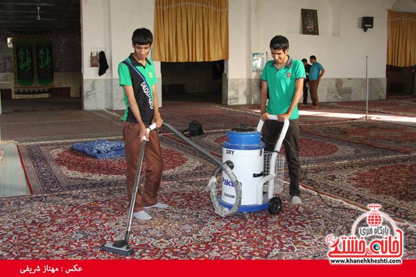 مسجد امام حسین (ع) ناصریه رفسنجان غبارروبی شد+عکس