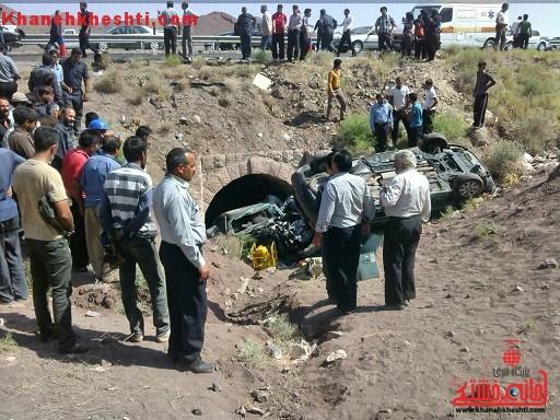 پنج کشته و مصدوم در حادثه رانندگی در محور سرچشمه + عکس