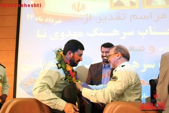 فرمانده نیروی انتظامی رفسنجان تودیع شد + عکس