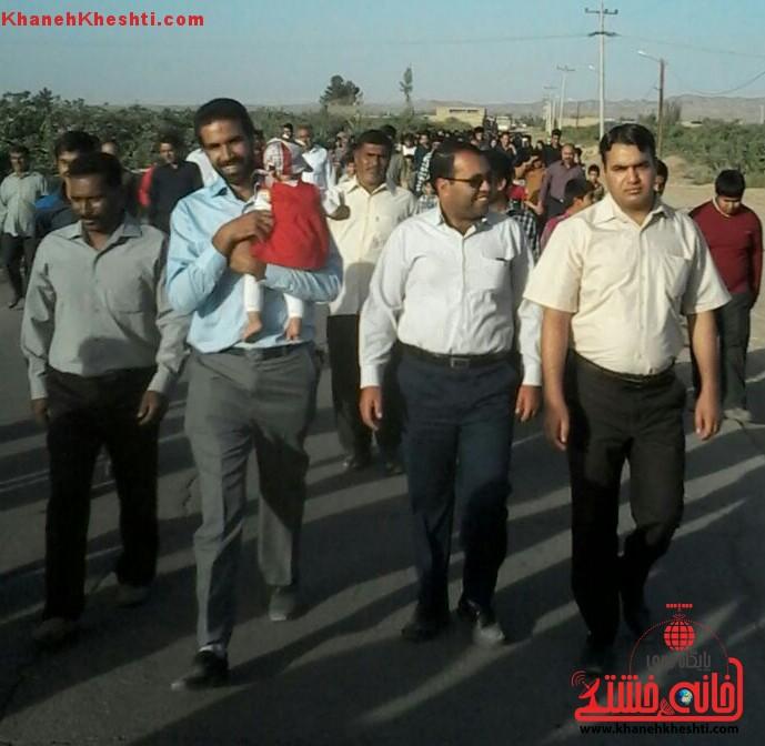 همایش پیاده روی صبح انتظار در رفسنجان برگزار شد + عکس
