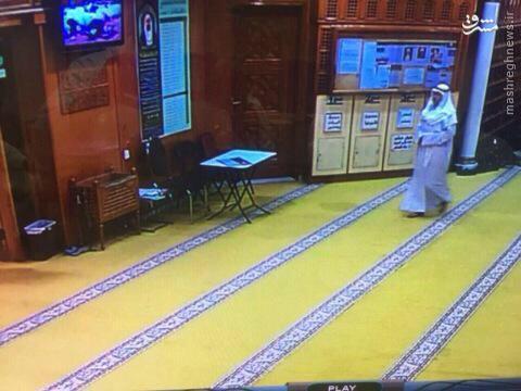 تصاویر لحظه ورود عامل انتحاری به مسجد شیعیان کویت