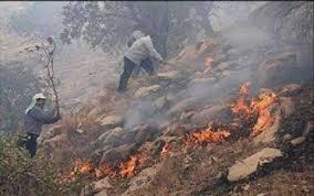 مهار آتش سوزی یک هکتار از مراتع کشکوئیه کمتر از دو ساعت توسط اهالی/ آتش روشن را رها نکنید