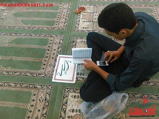 دوربین خانه خشتی در احیاء نیمه شعبانِ مسجد امام خمینی (ره) رفسنجان