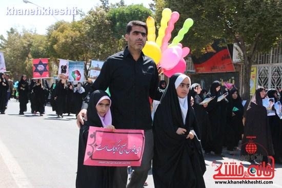 راهپیمایی حمایت ایران اسلامی از آرمان قدس شریف در رفسنجان برگزار شد