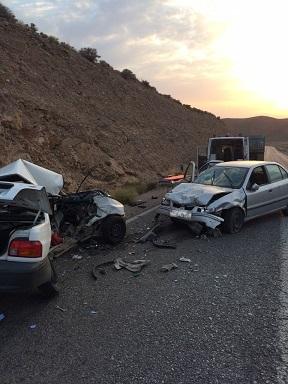 دو کشته در حادثه محور زرند به رفسنجان + عکس