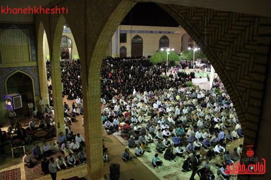 مراسم وداع مردم رفسنجان با ماه مبارک رمضان (۸)