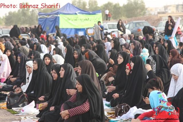 نماز عید فطر رفسنجان_خانه خشتی (۱۰)