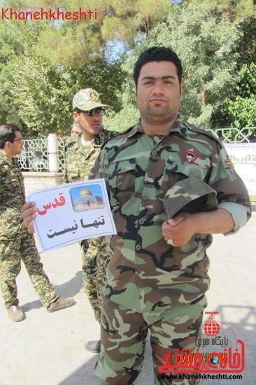 مردم شهید پرور رفسنجان به کمپین قدس تنها نیست پیوستند+عکس