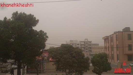 آسمان رفسنجان امروز دیده نمی شود + عکس