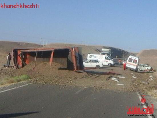 تصادف مرگبار در محور نوق به انار + عکس
