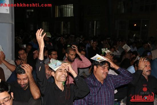 دوربین خانه خشتی در اولین شب احیای قدر در مصلی امام خامنه ای رفسنجان