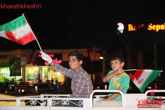 دوربین خانه خشتی در جشن شب گذشته در رفسنجان