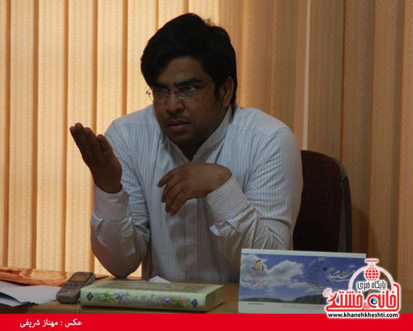 غلامرضاپور مشاور فرماندار در امور جوانان-رفسنجان-خانه خشتی