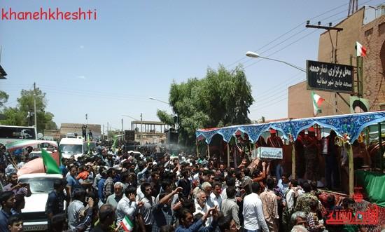 استقبال مردم بخش فردوس از شهدای غواص-خانه خشتی (۱۵)