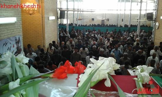 استقبال مردم بخش فردوس از شهدای غواص-خانه خشتی (۱۷)