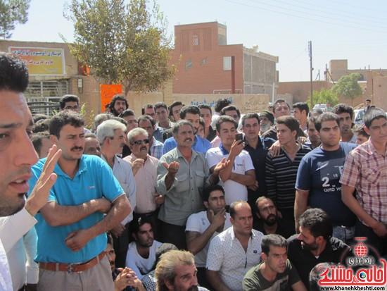 تجمع اعتراض به حضور افاغنه در رفسنجان-خانه خشتی (۱۴)