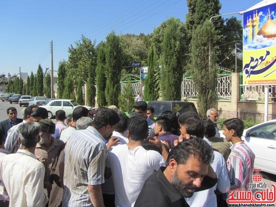 تجمع اعتراض به حضور افاغنه در رفسنجان-خانه خشتی (۷)