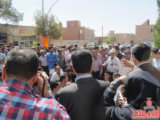 تجمع اعتراض به حضور افاغنه در رفسنجان-خانه خشتی (۸)