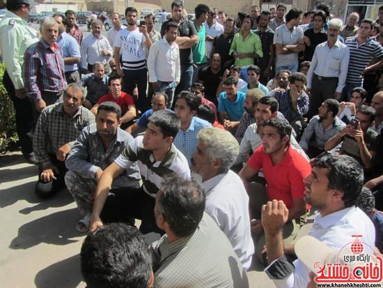 تجمع کارگران معترض به حضور افاغنه در رفسنجان / تصاویر