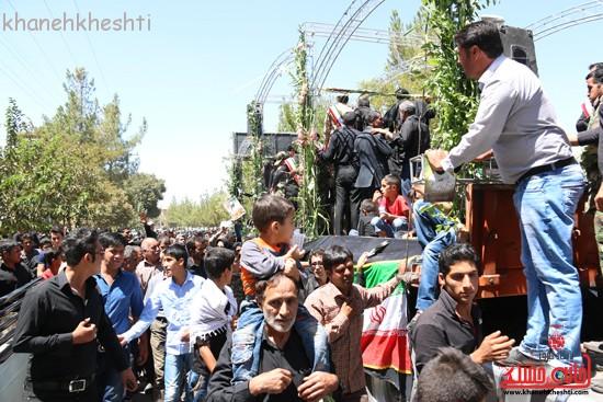خاکسپاری شهید آخوندی-رفسنجان-خانه خشتی (۱۴)